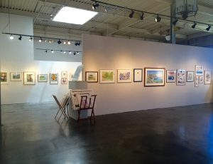 The gallery is featuring a collection of 18 artists from the SCWS.