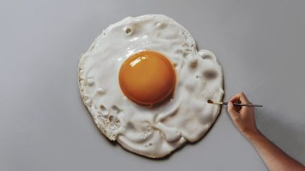 Video: How To Paint a Fried Egg