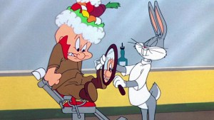 Buggs Bunny helping The  Barber of Seville