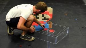 Video: 3D Super Mario Chalk Art Time Lapse