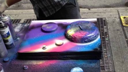 Video: How to do Spray Paint Art