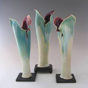 Ceramics by recently featured artist, Donna Hills.