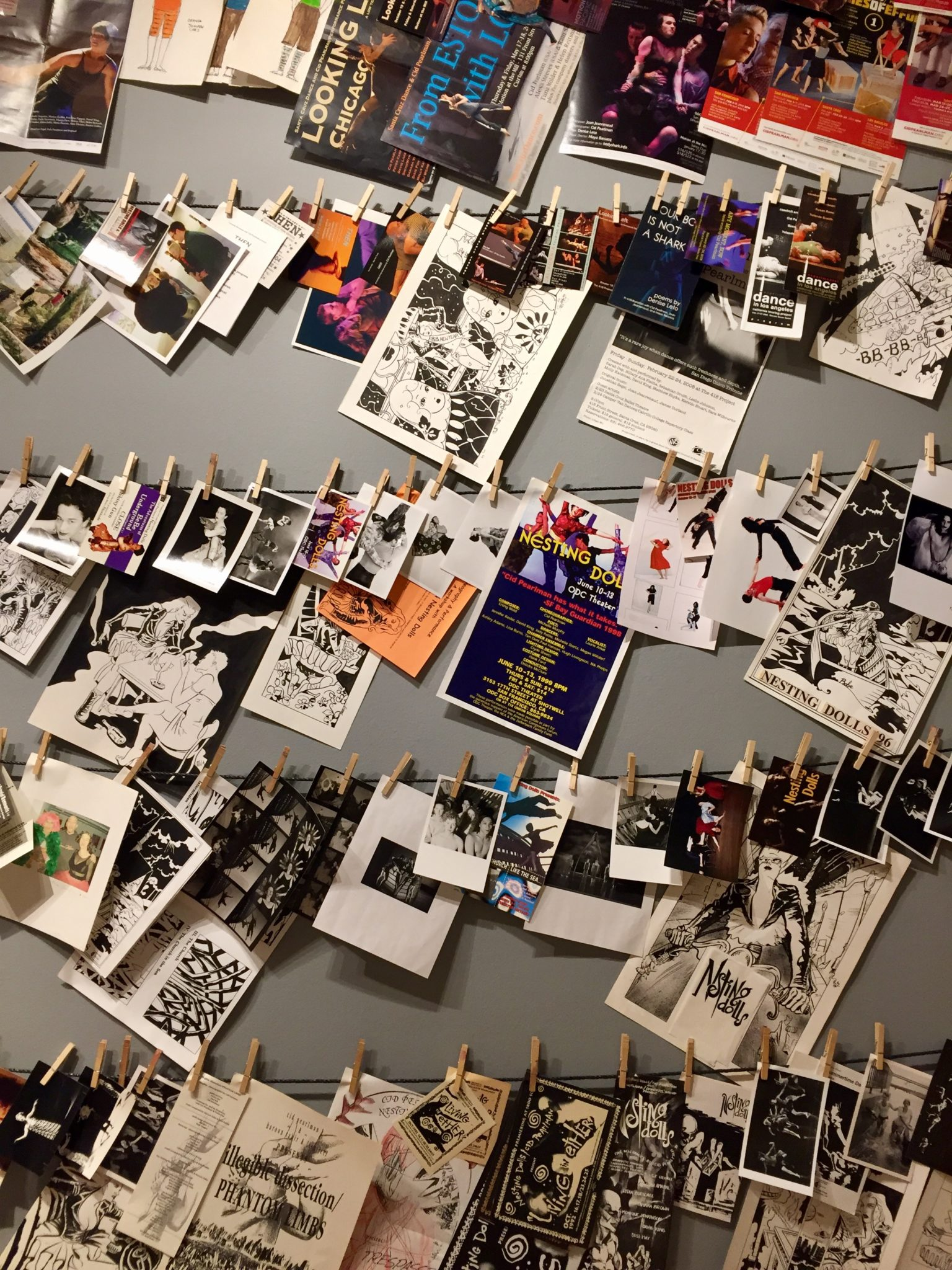 Cid Perlman has collected objects that elicit memories of 25 years of dance-making and performances.