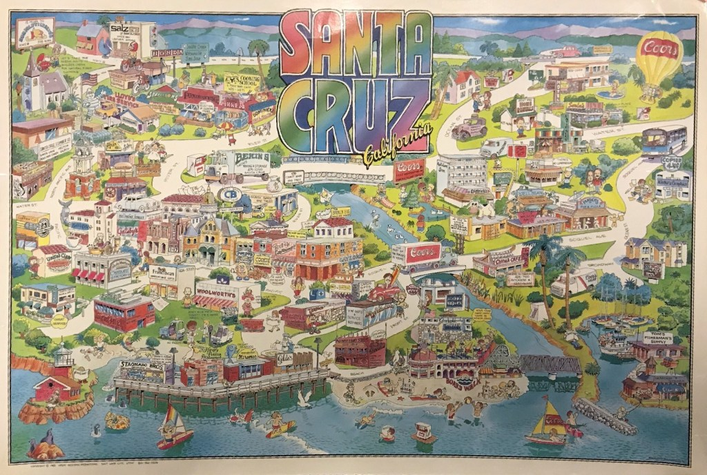 1985 Santa Cruz Map