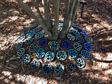 """Tree Pools"", by Jenni Ward. Glazed ceramic."