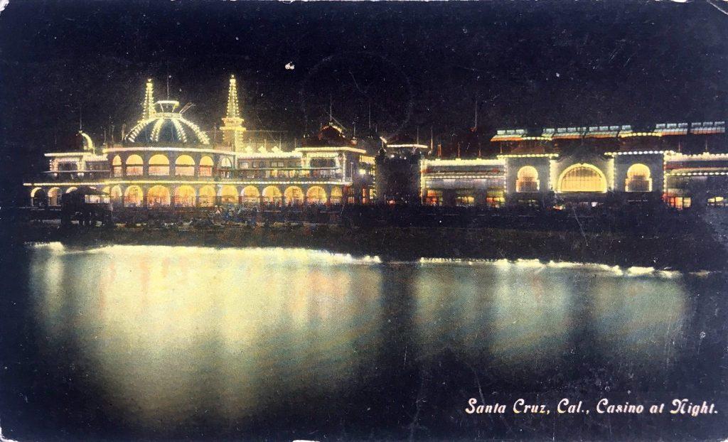 Santa Cruz, Cal., Casino at Night