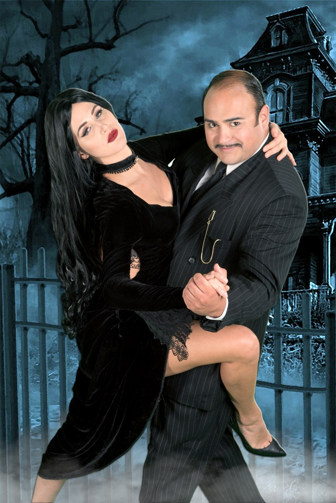 Danielle Crook (Morticia) & Adam Saucedo (Gomez)