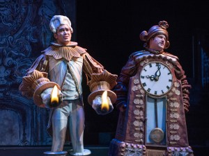 Nick Rodrigues (Lumiere) and Jordan Pierini (Cogsworth)