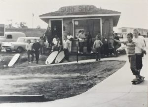 The original O'Neill surf shop opened in the early 50s and overlooked Cowell's Beach