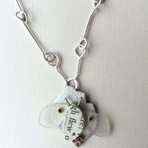 "Shelon Bennett - Found object ""Bee"" necklace"
