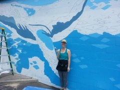 Laurel Bushman - Blue Monterey Bay Mural: Featured Artwork