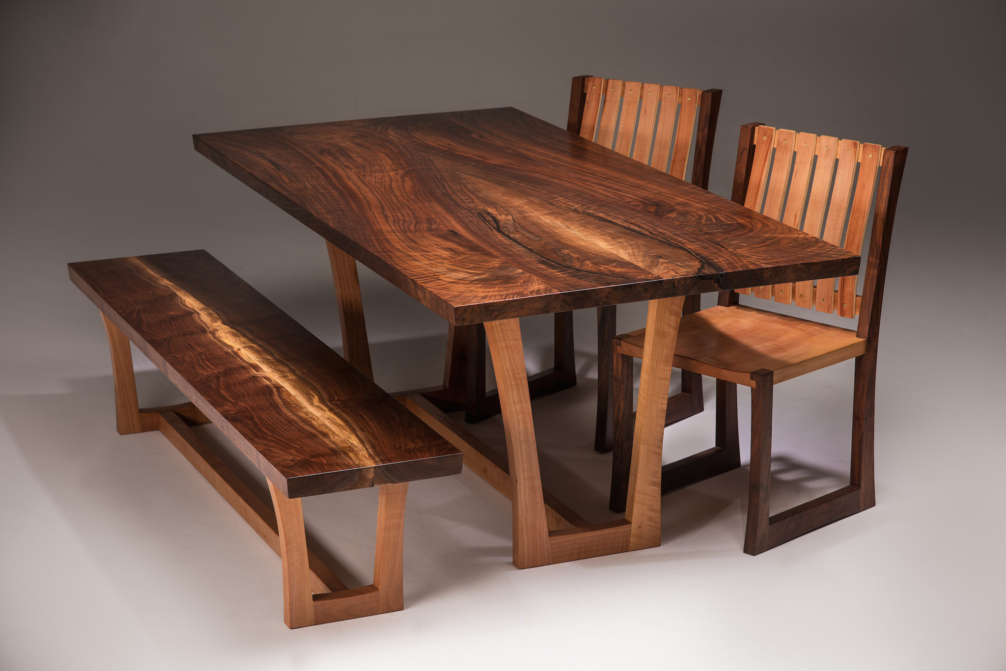 Joey Kochlacs - Walnut and Madrone set w/bench