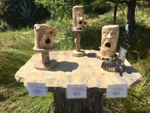 Birdhouses, by Ron Cook. Salvaged Wood.