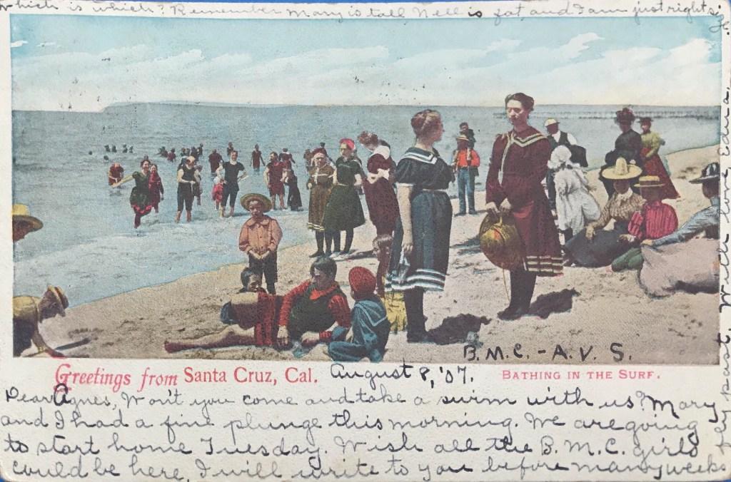 Rude Shady postcard from Santa Cruz