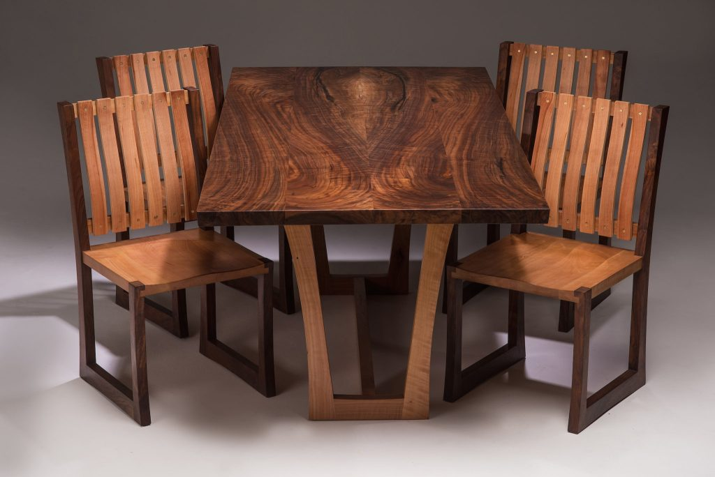 Superb Joey Kochlacs Madrone And Walnut Featured Series Local Andrewgaddart Wooden Chair Designs For Living Room Andrewgaddartcom