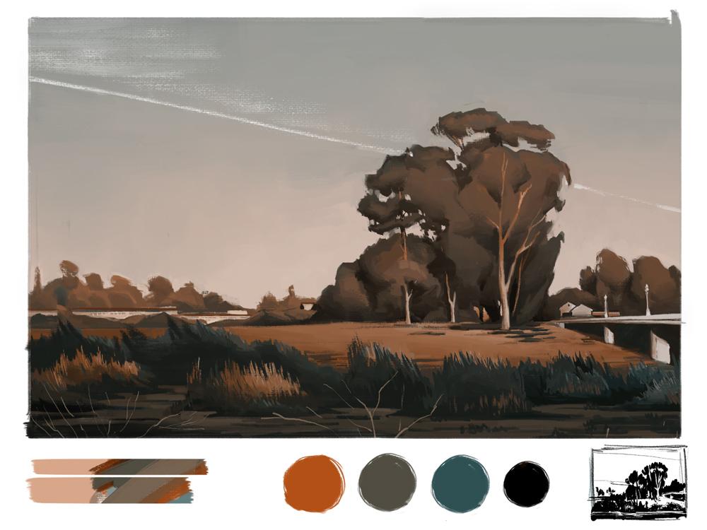 Ian Wing - Digital San Lorenzo Sunset