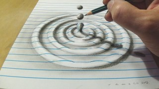 How to Draw a Water Drop Anamorphic Illusion