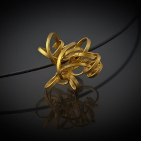 Ina Hohensee - Ribbon Cluster Pendant