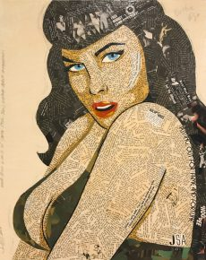 Bettie Page by Janet Allinger