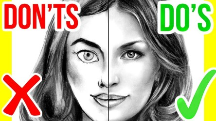 Do's and Don't: How to Draw a Face