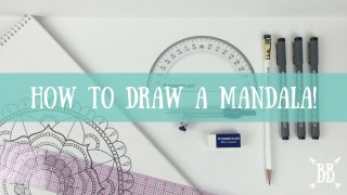 Video: How to Draw a Mandala