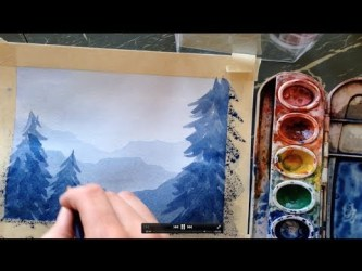Video: How to Paint a Watercolor Landscape