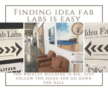 Idea Fab Labs Directions Signs