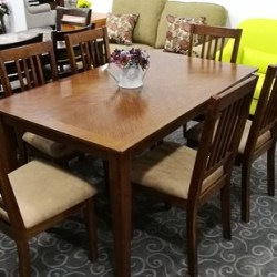 Mission 1.52 Metre Dining Table & 6 Chairs