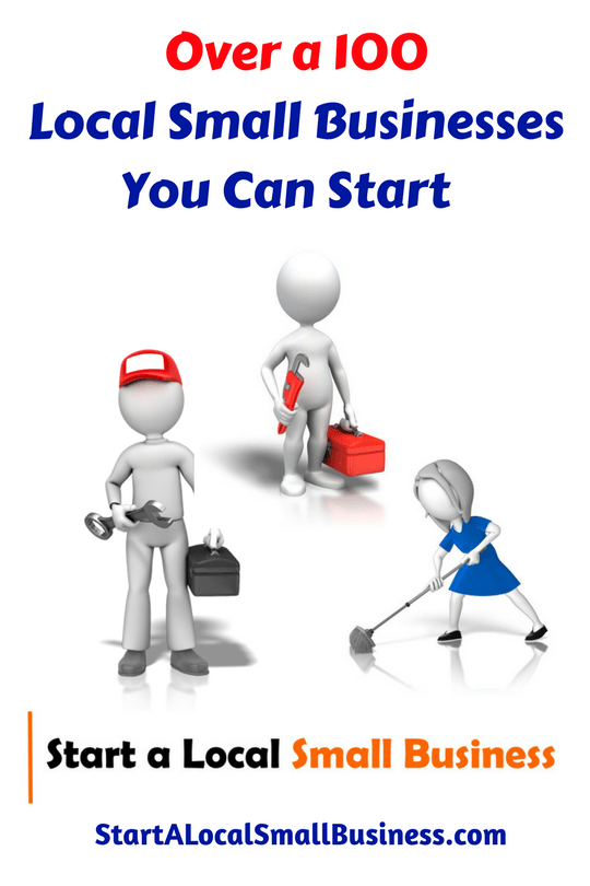 small businesses you can start