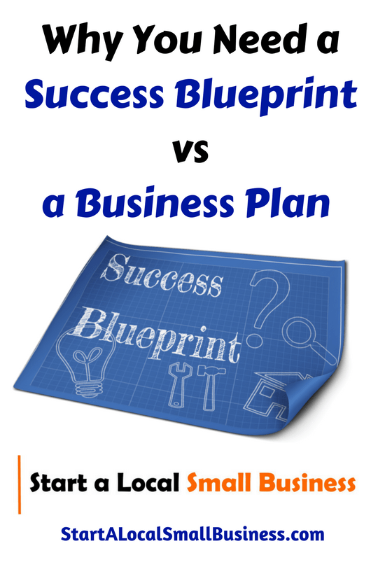 Why you need a success blueprint vs a business plan local small why you need a success blueprint vs a business plan local small business coach malvernweather Choice Image