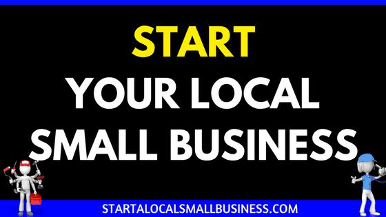 Start a Local Small Business Header