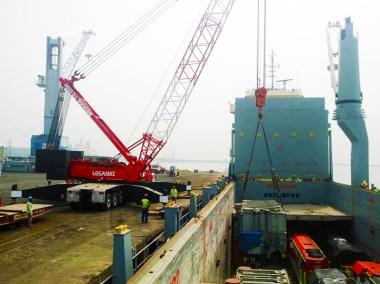 chargement et transport d'un transformateur de 138 tonnes