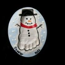muñeco de nieve pie pasta de sal