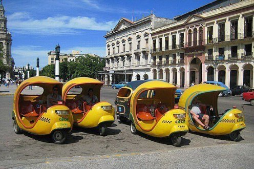 Taxis en la habana