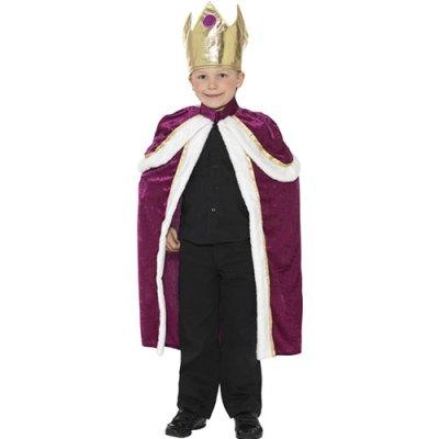 Costume enfant roi violet