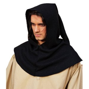 Capuche noire Authentic Medieval