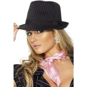 Chapeau gangster noir rayé