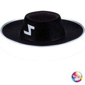 Chapeau justicier noir Zorro