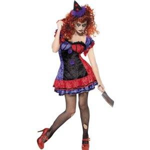 Costume femme cirque sinistre clown Bobo