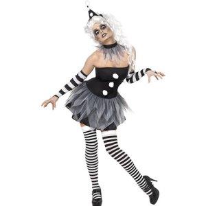 Costume femme sinistre Pierrette