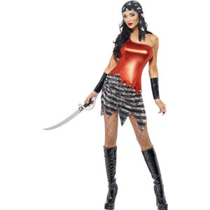 Costume femme piratine flashy