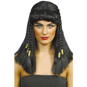 Perruque Cléopâtre noire