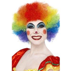 Perruque clown fou multicolore