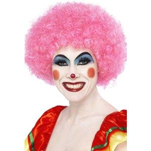 Perruque clown fou rose