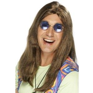 Perruque groovy hippie blond