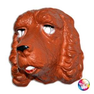 Masque plastique rigide épagneul adulte