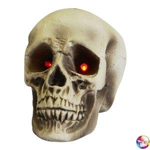 Crâne polystyrène yeux lumineux