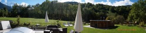 vue panoramique chalet Saint Gervais Dômes de Miage