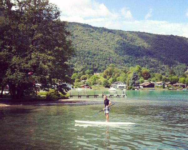 de belles conditions d'automne sur le lac d'Annecy !