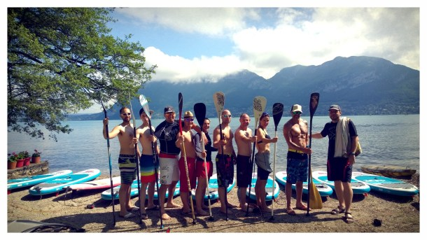 Pompiers d'Annecy en stand up paddle !